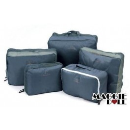 5 Travel Bag Trips Organiser Clothes Accessories Case Tidy Fashion Bags Luggage - Grey